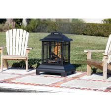 Outdoor Patio Fireplaces Fire Sense Rectangle Pagoda Patio Fireplace Walmart Com