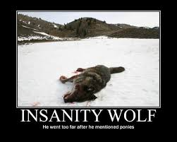 Insanity Workout Meme - don t mention ponies insanity wolf know your meme