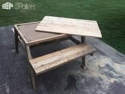 Kids Wooden Picnic Table Kids Pallet Sandbox Picnic Table U2022 1001 Pallets