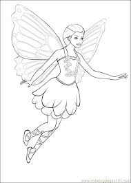 barbie coloring pages free online games fairy princess movie