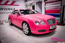 pink luxury cars matte pink bentley continental gt by wrap workz hong kong gtspirit