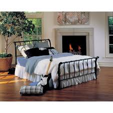 Metal Sleigh Bed Hillsdale Janis Metal Sleigh Bed Black Walmart