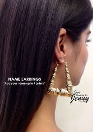 Custom Name Earrings 38 Best Custom Gold Name Jewelry Images On Pinterest Bamboo