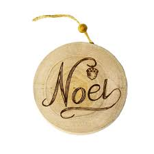 wood disk noel wood disk ornament knippel garden centre