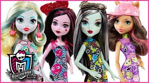 Monster High Halloween Doll by Monster High Dolls Emoji Frankie Draculara Clawdeen And