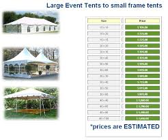 rent a price wedding tents for rent prices williams