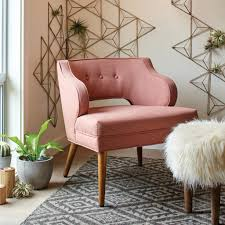 Living Room With Chairs Only How To Add A Pop Of Pink To Your Home