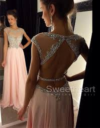 formal gowns sweetheart girl pink chiffon sequin prom dress formal
