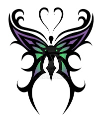 butterfly tattoo designs u203a cool purple green tribal butterfly