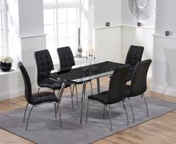 ritz black extending glass dining table with calgary chairs the