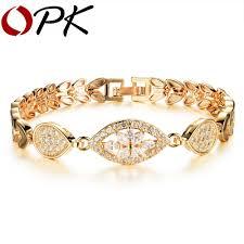 luxury bracelet gold chains images Online shop opk new fashion gold color bracelets for women luxury jpg