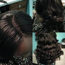 lace frontal sewin at shear essence salon