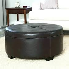 round upholstered coffee table sophisticated round grey ottoman black round storage ottoman fabric