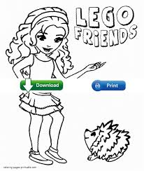 lego friends coloring sheets