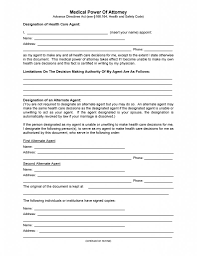 Powers Of Attorney by Free Texas Medical Power Of Attorney Form Pdf Template Form