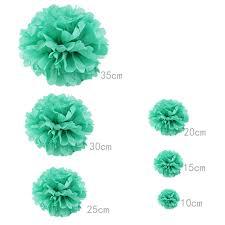 mint green tissue paper free shipping 10 pcs 10cm 4inches mint green tissue paper pom