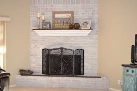 Whitewashing A Fireplace by Decor U0026 Tips Homey Touch To Your Living With Brick Fireplace