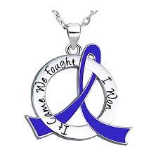 ra ribbon necklace for colon cancer cfs syringomyelia dysautonomia