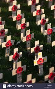 city of edinburgh scotland display of remembrance day crosses