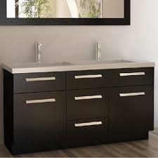 Overstock Vanity Design Element Perfecta Modern Double Sink Bathroom Vanity Set