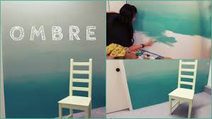 appealing ombre concept applied for diy wall painting at small