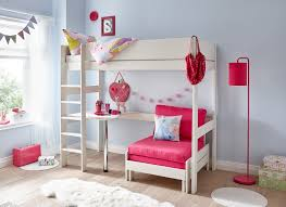 White Desk And Chair Tinsley Highsleeper With Desk Pink And White Dreams