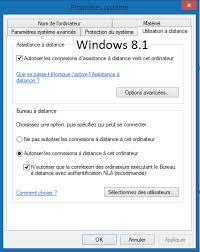 bureau distance windows 8 configuration du bureau a distance non disponible windows10