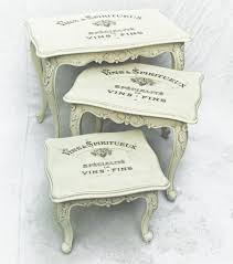 vintage shabby chic nest tables no 11 touch
