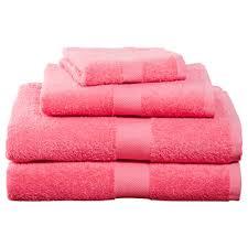 pink four cotton towel set bedding and bath