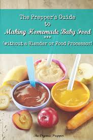 the prepper u0027s guide to making homemade baby food the organic prepper