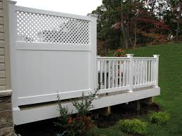 azek low maintenance 6 u0027 deck privacy panel with lattice top