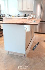 ikea kitchen cabinets on wheels ikea diy kitchen island with thrifted counter top free