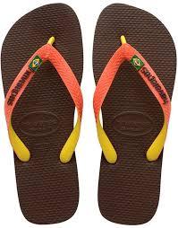 havaianas brasil mix unisex adults u0027 flip flops brown dark brown