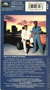 miami vice ii the prodigal son vhscollector com your analog