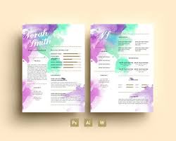 dental hygienist resume modern fonts exles 21 best watercolour résumés images on pinterest resume design