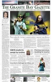 granite bay gazette october 2017 scholastic journalism week front pages newseum
