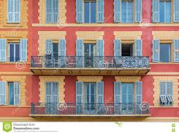 mediterranean house facades in nice stock photo image 75318418