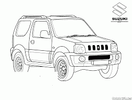 coloring page jeep from japan