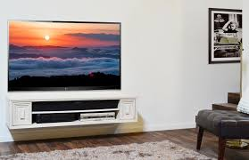 modern wall mounted tv stand integrated with two tone horizontal