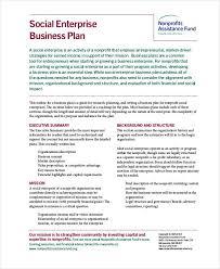 nonprofit business plan template business proposal letter plan