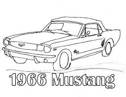 1966 mustang coloring pages mustangs embroidery
