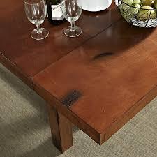 oak wood dining table amazon com walker edison 96 solid wood dark oak dining table tables