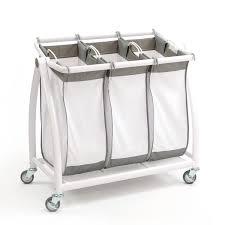 Light And Dark Laundry Hamper by Premium 3 Bag Heavy Duty Tilt Laundry Hamper Sorter Cart Seville