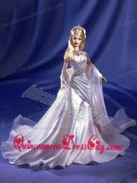 ruching elastic woven satin princess barbie doll dress 62 53
