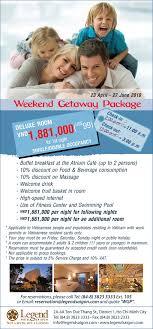amcham legend hotel saigon has launched weekend getaway