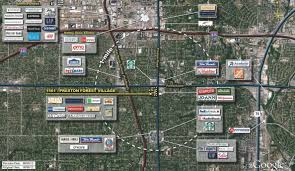 Dallas Area Map by Dallas Tx Preston Forest Village Retail Space Kimco Realty