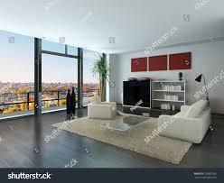 modern loft furniture modern loft interior trendy living room stock illustration