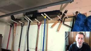 garage tool rack youtube