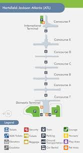 atlanta airport floor plan atlanta airport atl terminal map