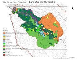 Land Ownership Map Carmel River Watershed Map Of Land Use And Ownership Ecoviz Wiki